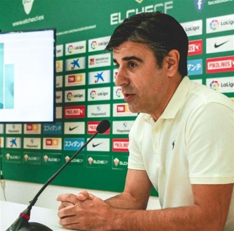 Detalle con Nico Rodríguez, en una imagen compartida en redes por el Elche. EFE