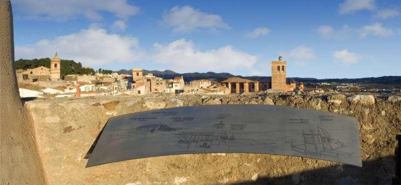 Vista de Segorbe desde una de las torres medievales