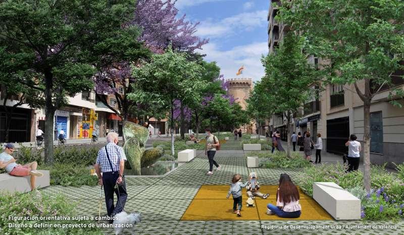 Diseño orientativo del proyecto de urbanización. EPDA