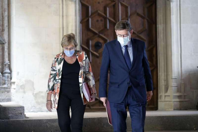 El presidente Ximo Puig y la consellera de Sanidad, Ana Barceló