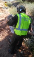 Rescate de la mujer enferma de Alzheimer. Imagen Guardia Civil