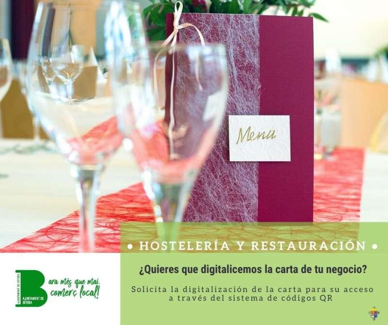 Cartel informativo para los restaurantes. / EPDA