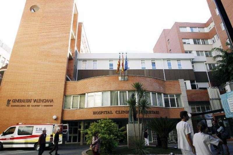 Imagen del Hospital Clínico de València. Foto de archivo.