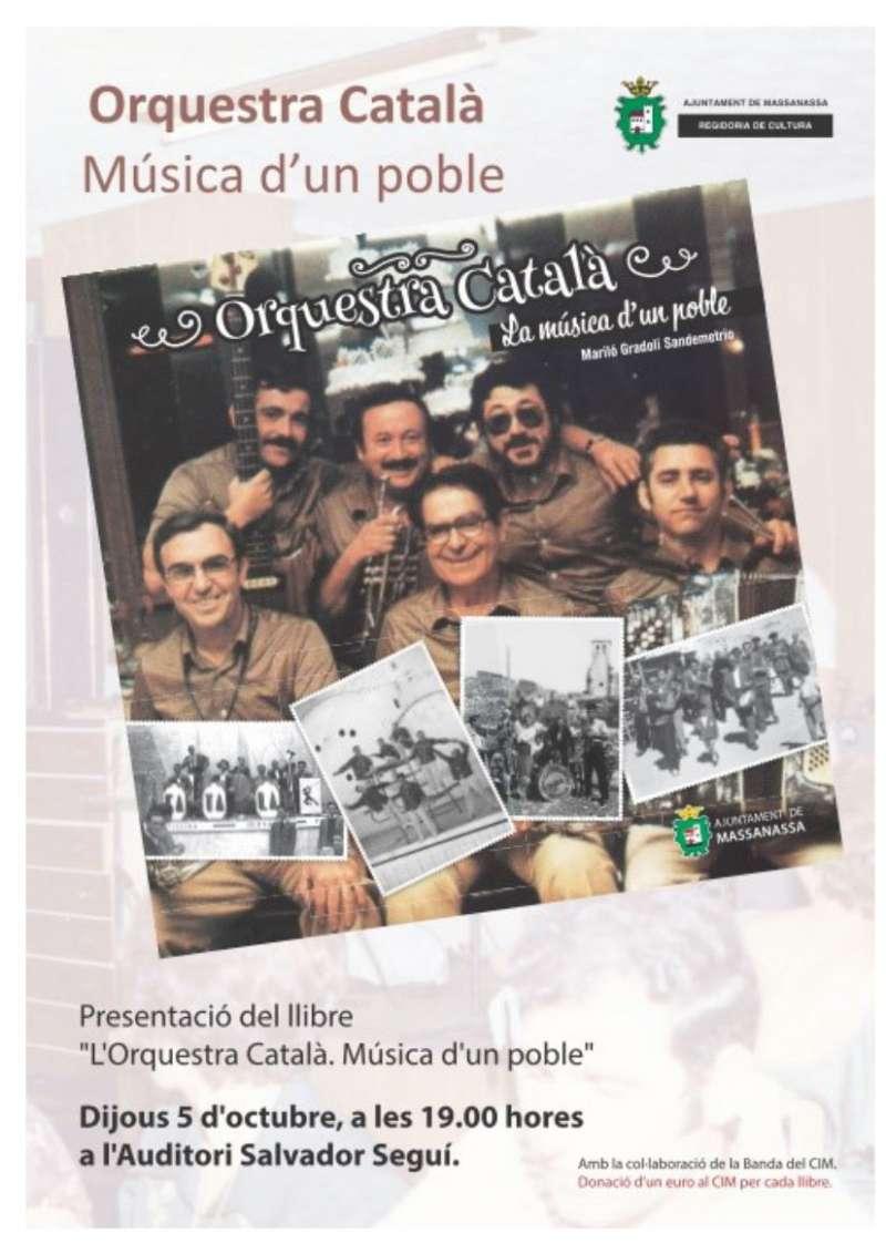 Cartell de la presentació del llibre a Massanassa. EPDA