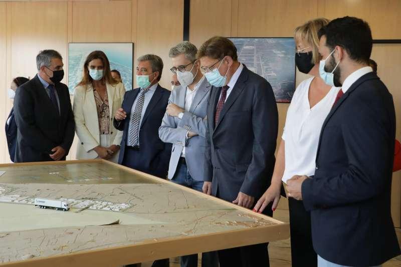El president de la Generalitat, Ximo Puig, en su visita esta mañana a Parc Sagunt, en una imagen compartida por la Generalitat.