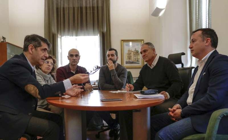 Reunión con directivos de TVE./epda
