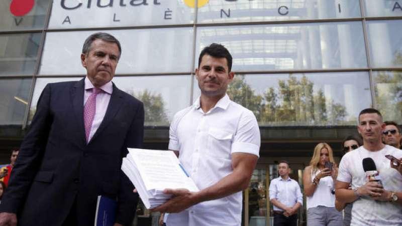 Julio Santos en la Ciudad de la Justicia de Valencia. EPDA