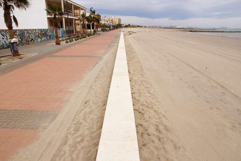 Paseo de la playa de Puçol. EPDA