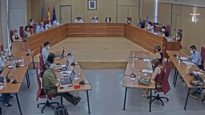 Pleno en Alboraya