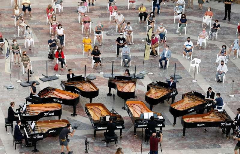 Concierto de piano en plena pandemia, en el marco del I Festival Iturbi.