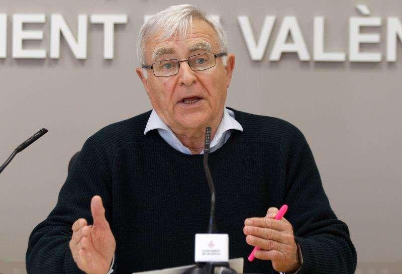El alcalde de València, Joan Ribó, presenta el estudio de posibilidades para crear una infraestructura verde en el nuevo cauce del Turia. Ayuntamiento.EFE