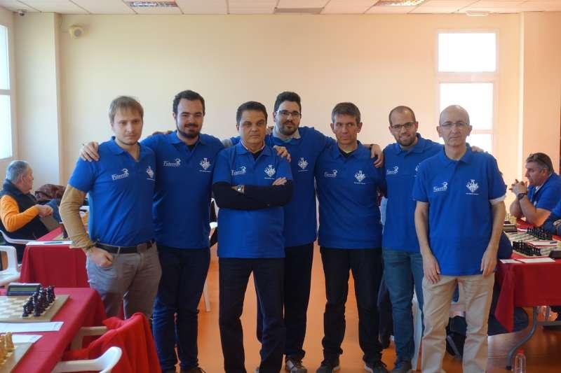 Imagen del equipo A que representó al Club Ajedrez Andreu Paterna en la pasada jornada. EPDA