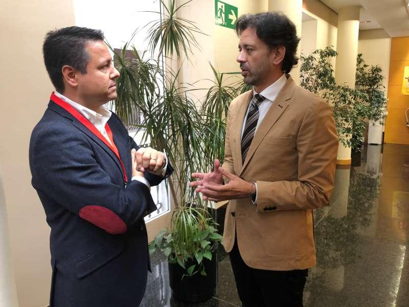 Montero y Zaplana en Les Corts. EPDA