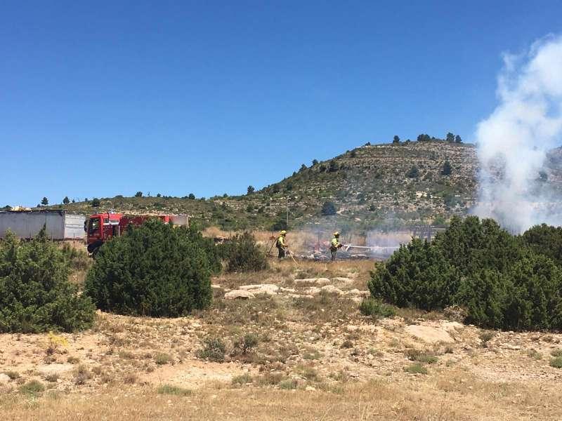 Incendio en Camporrobles