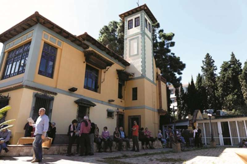 Visita al jardí de Villa Amparo del passat diumenge. / epda