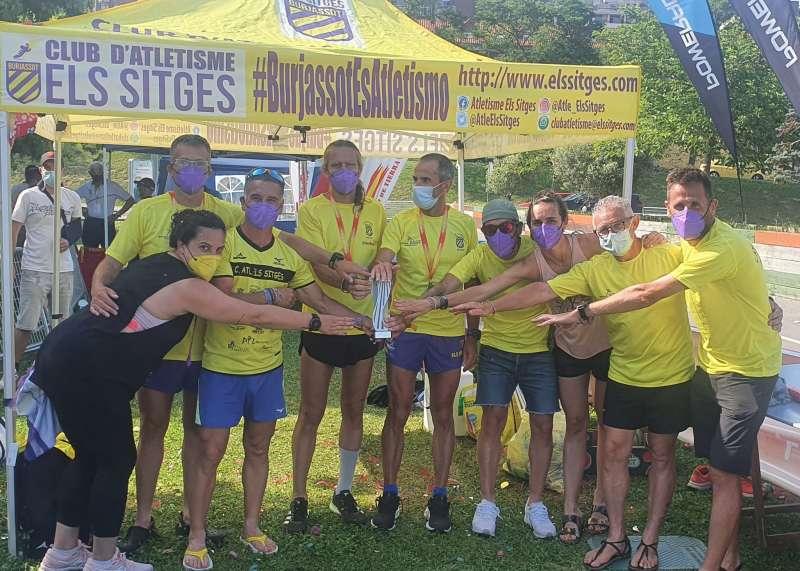 Equipo del CA Els Sitges en el Campeonato de España de Ultrafondo