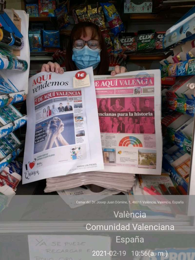 Quiosco de la la calle Juan dómine de Valencia