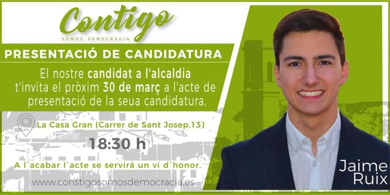 Presentación del candidato Jaime Ruix./epda