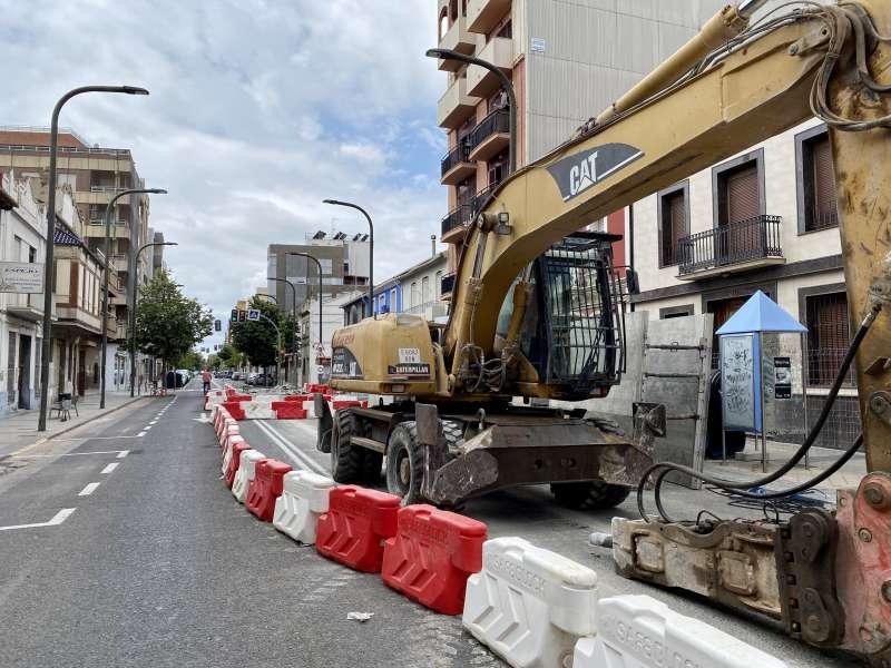 Obras ejecutándose en Massanassa. EPDA