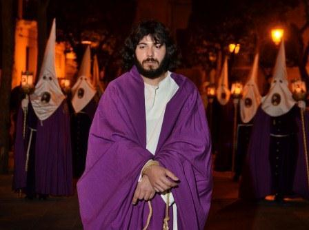 La representación de Jesús prendido. FOTO: EPDA.