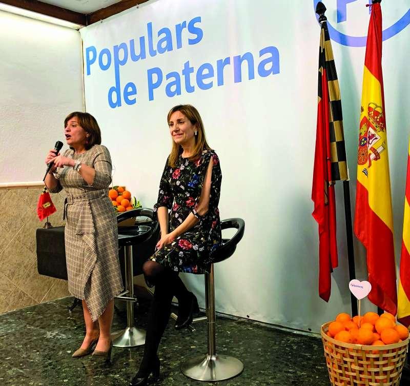 Bonig y Villajos, en la presentación de la candidatura de Paterna. EPDA