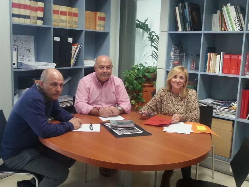 Josep Galarza, Damián Ibáñez i Alicia Tusón