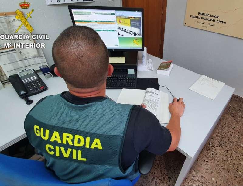 Guardia civil de la operación./PDA