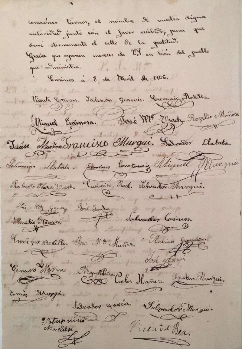 Carta firmada por los alumnos. / JSM