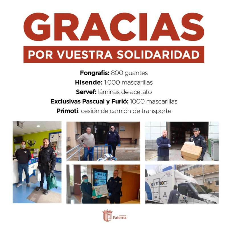 Donaciones en Paterna. EPDA