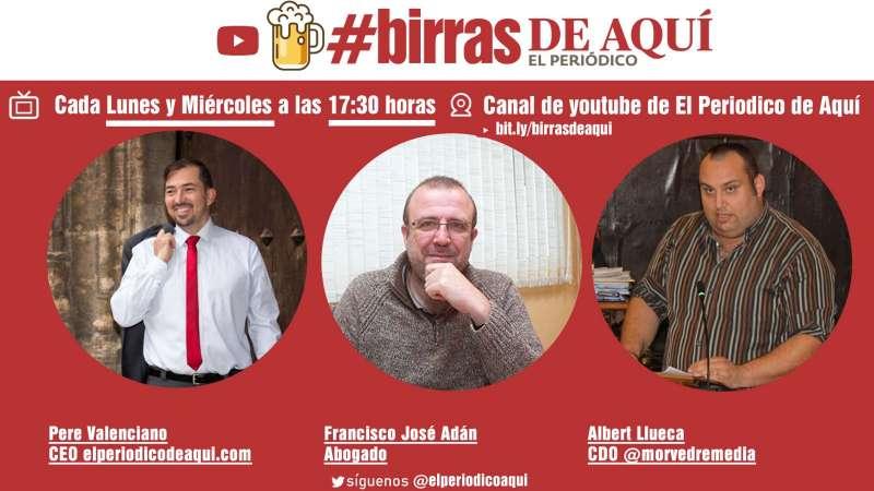 Birras de Aquí, lunes y miércoles, 17.30