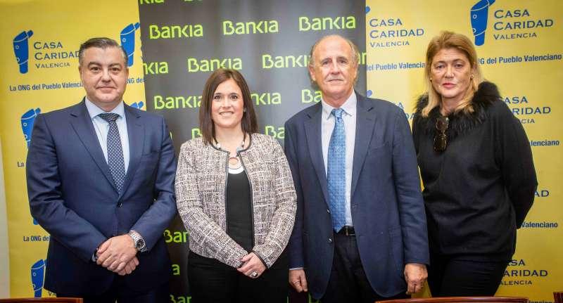 Acuerdo de colaboración entre Bankia y Casa Caridad.