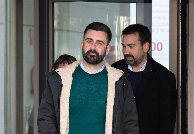 Pere Fuset, a la salida de los tribunales. EPDA