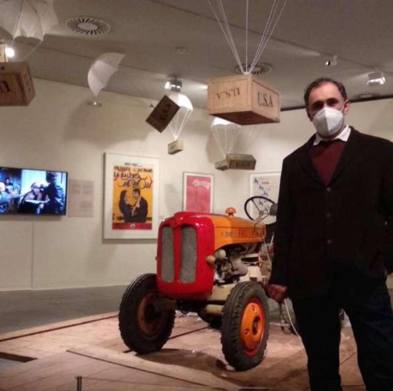 El tractor de la exposición. EPDA.