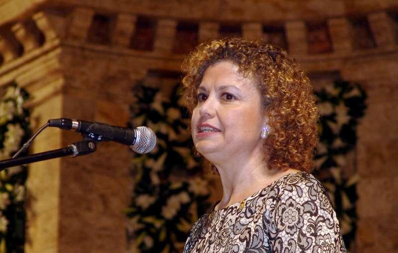 Mª Emilia Adán en un acto en Segorbe