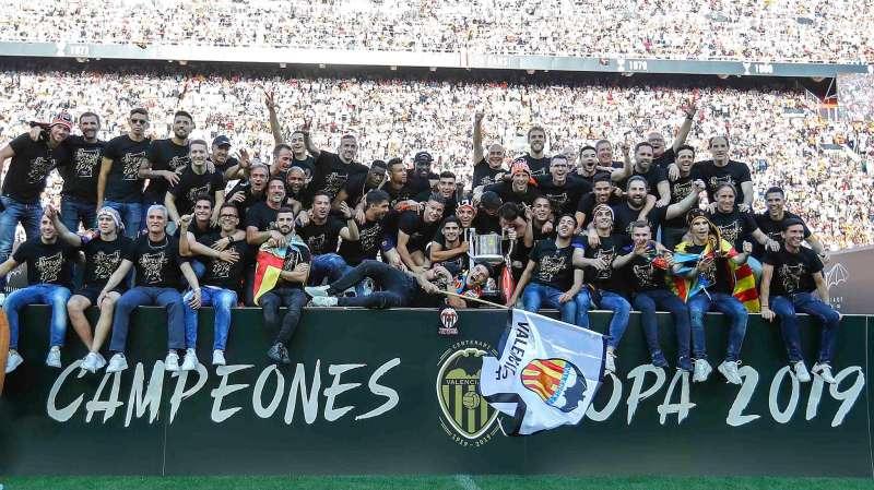 Celebración de la Copa del Rey 2019 del Valencia CF