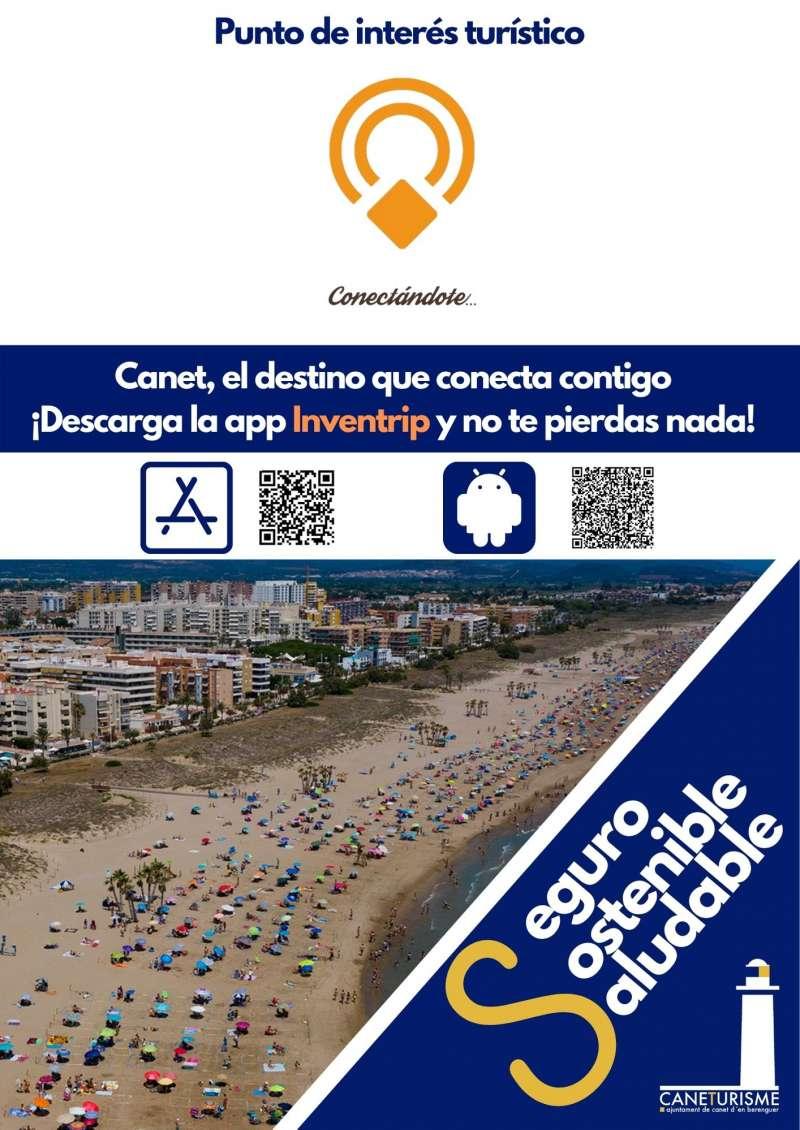 Cartel de Punto de Interés Turístico de Canet.