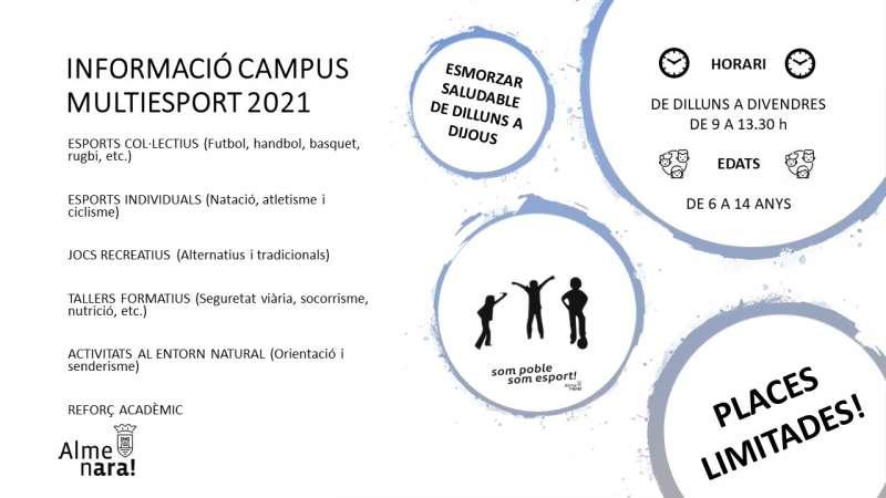 Información del campus de verano.