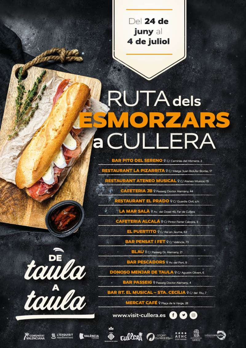 Cartell campanya esmorzar a Cullera./EPDA