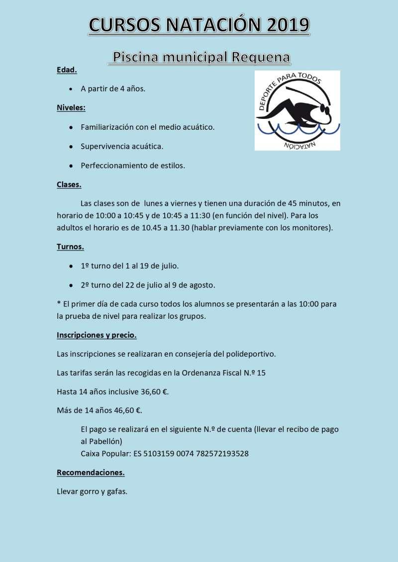 Cartel natación 2019