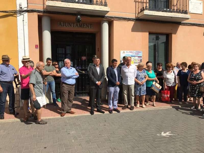 El delegado del gobierno, Juan Carlos Fulgencio, visita Olocau