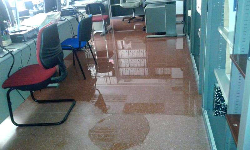 Juzgado número 2 de Mislata inundado