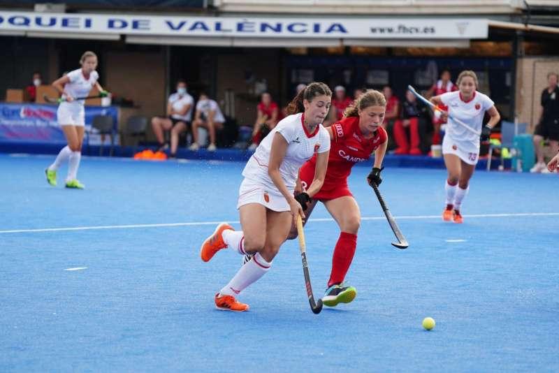 La selección española de hockey sub-18 femenino. EPDA