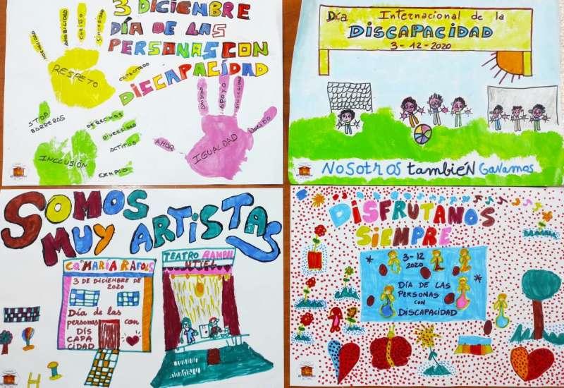 Algunos de los carteles realizados con motivo del Día Internacional de las Personas con Discapacidad y la Asociación de Diversidad Funcional