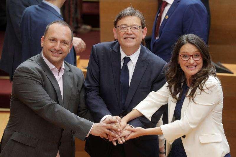 Martínez dalmau,Ximo Puig y Mónica Oltra
