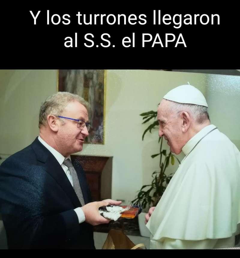 Encuentro de Murgui con el papa Francisco