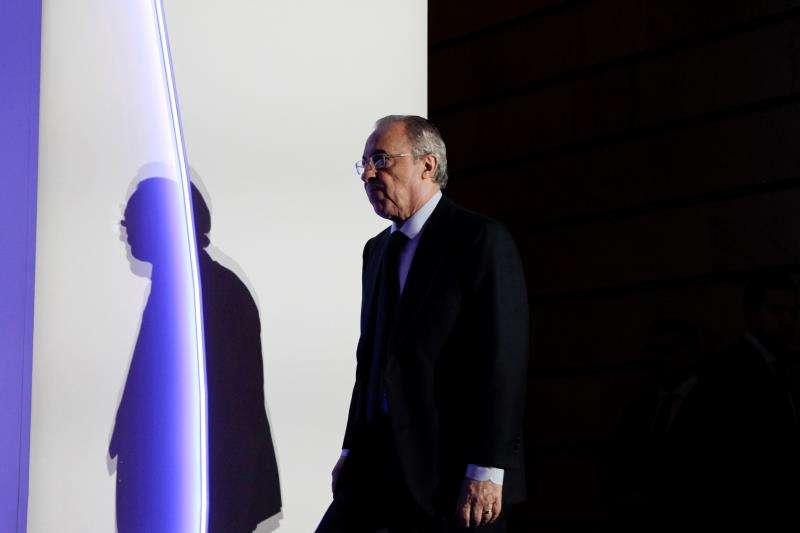 El presidente de ACS, Florentino Pérez, durante la última junta de accionistas de la compañía. EFE/Archivo