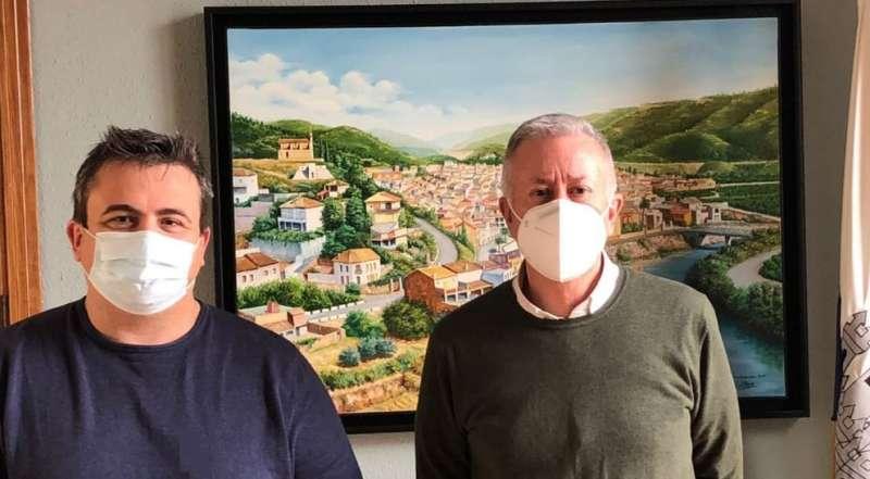Alcaldes de Antella y Sumcàrcer./EPDA