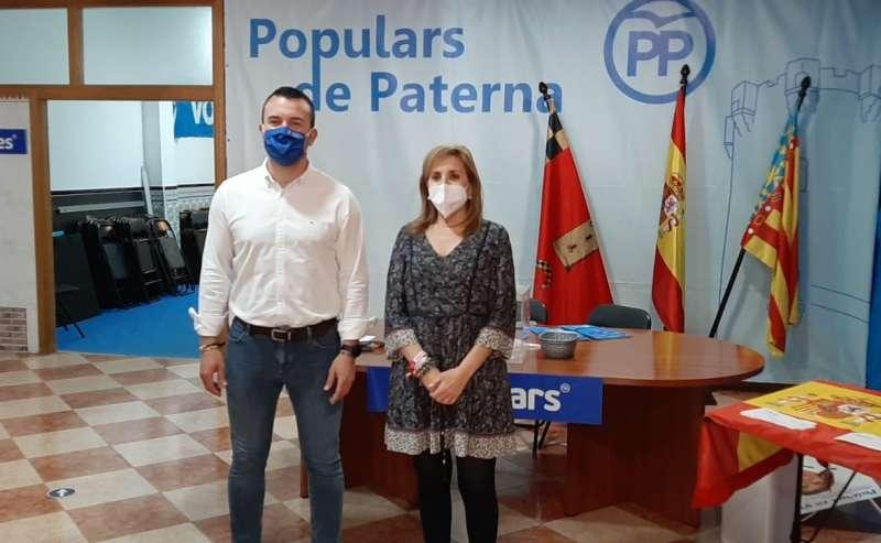 Villajos y Mompó en el VII Congreso del PP de Paterna