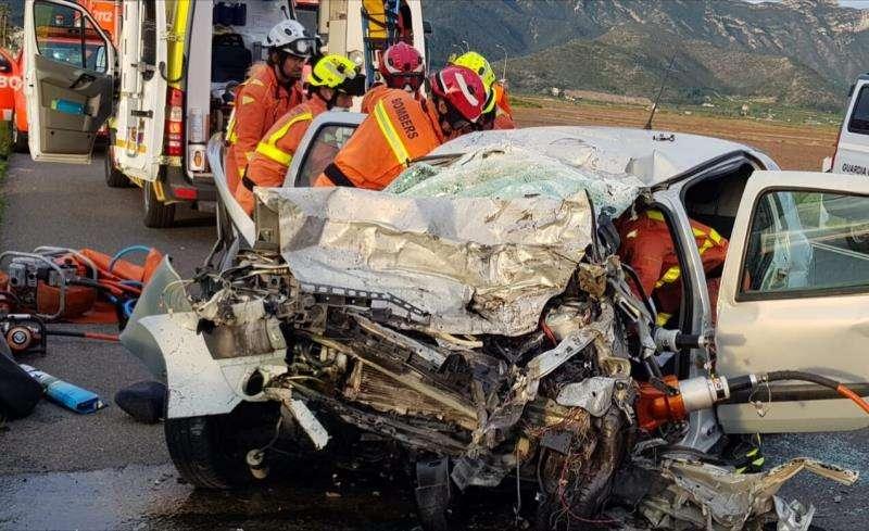 El accidente, en una imagen de los Bomberos.