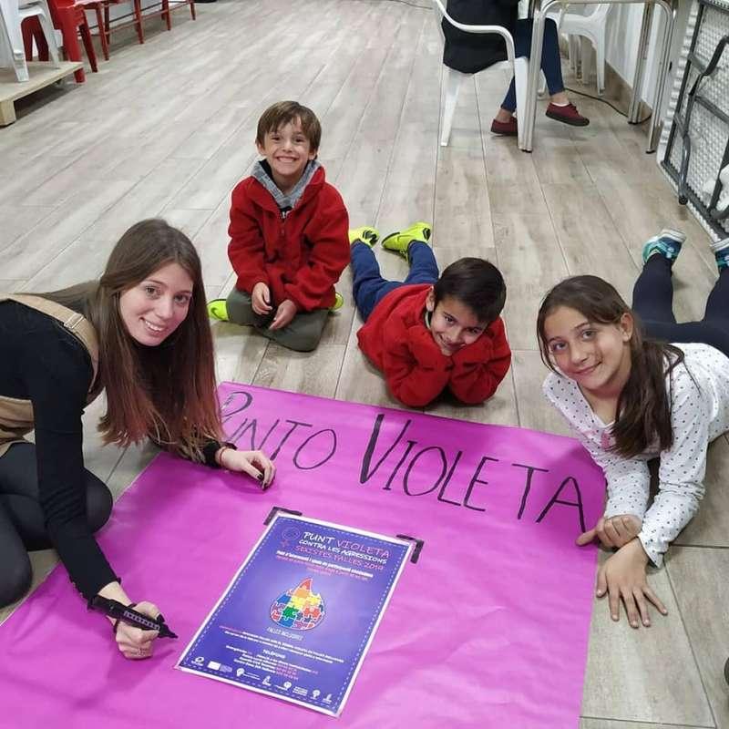 Puntos violeta en las fallas de Alboraya. EPDA